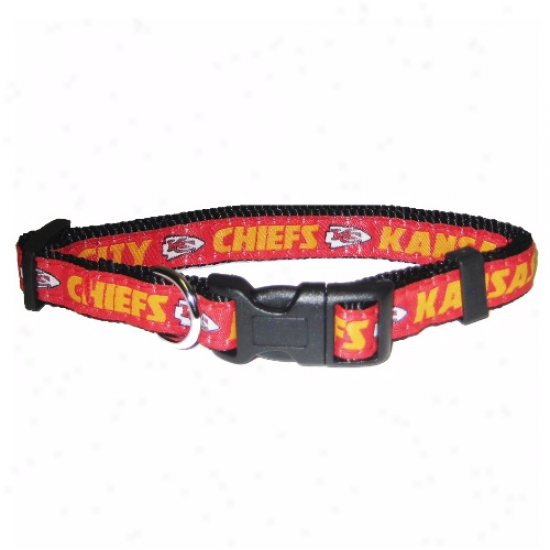 Kansas City Chiefs Red Adjustable Woven Team Pet Ring