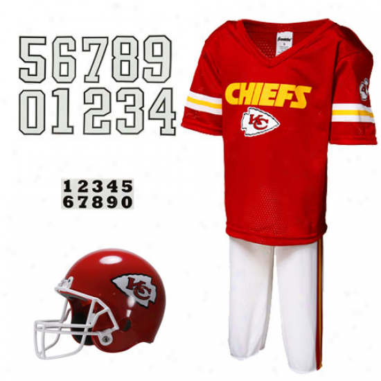 Kansas City Chiefs Youth Red Deluxe Team Uniform Set