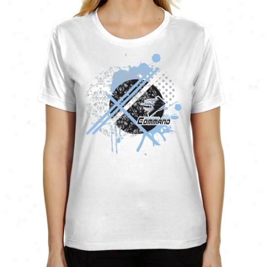 Kansas City Command Ladies Fusion Classic Fit T-shirt - White