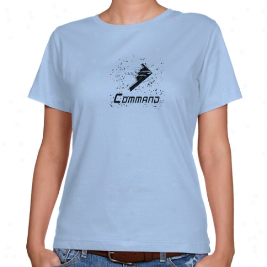 Kansas City Command Ladies Light Blue Scribble Soetch Clzssic Fit T-shirt