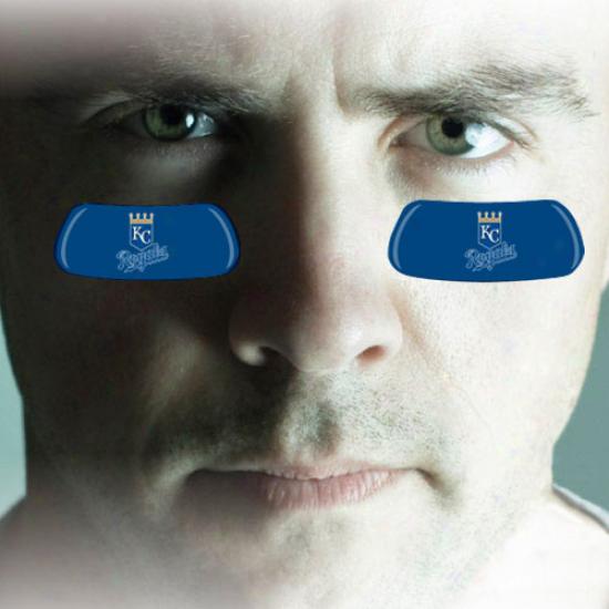 Kansas City Royals 2-pair Royal Blue Team-colored Eye Black Strips