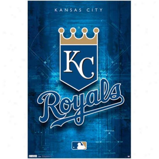 Kansas City Royals 22'' X 34'' Logo Poster