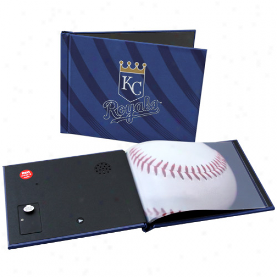 Kansas City Ryals 6'' X 8'' Royal Recordable Photobook