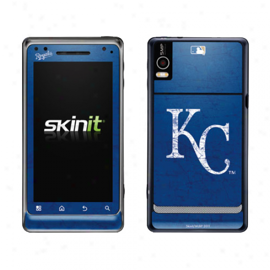 Kansas City Royals NavyB lue Droid 2 Distressed Skin
