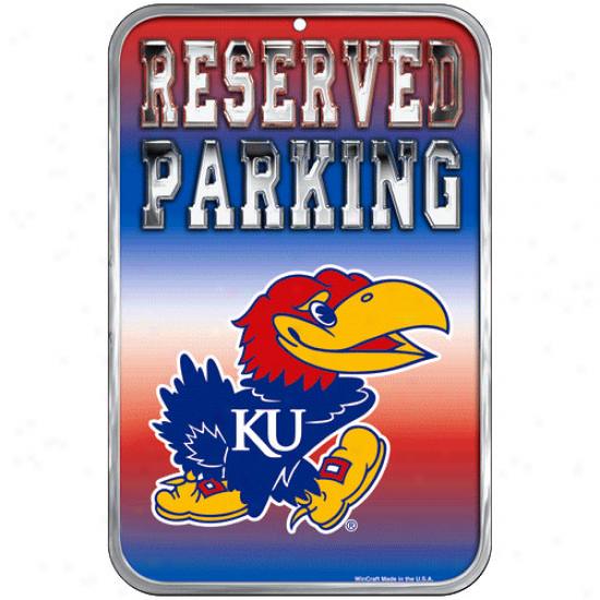 Kansas Jayhawks 11'' X 17'' Reserved Parking Sign