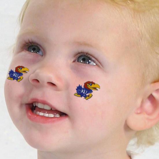 Kansas Jayhawks 4-pack Temporary Tattoos-