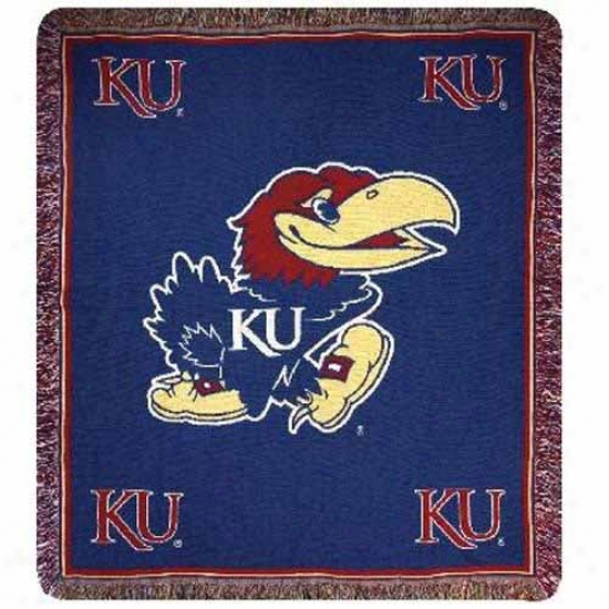 """kaansas Jayhawks 50"""" X 60"""" Tapestry Woven Blanket Throw"""