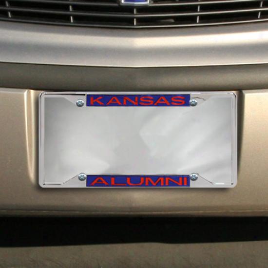 Kansas Jayhawks Alumni Acrylic Insert Chrome License Plate Frame