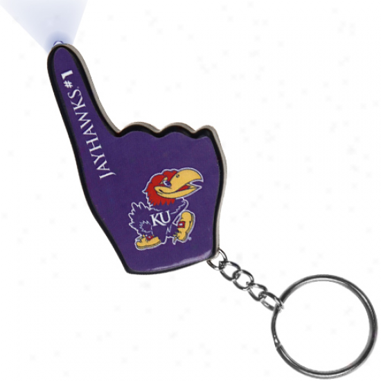 Kansas Jayhawks Amount to One Fan Flashlight Keychain