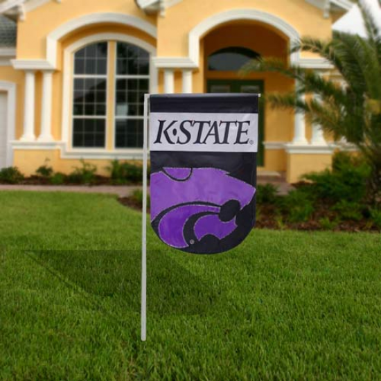 Kansas State Wildcats 12'' X 18'' Mini Applique Flag