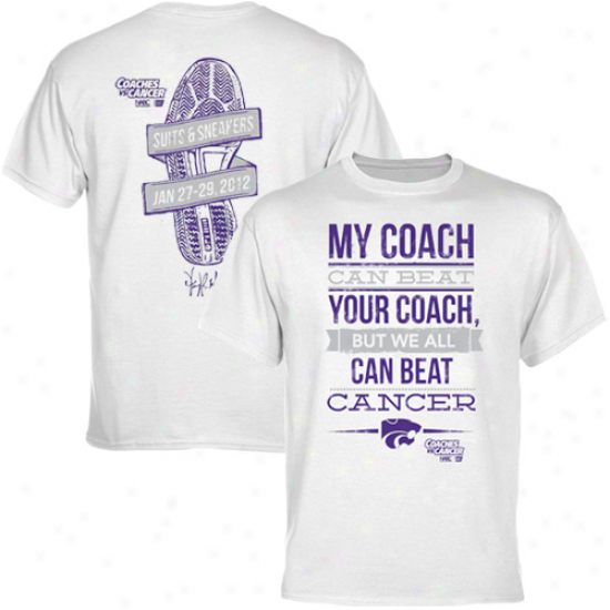 Kansas State Wildcats Coaches Vs. Cancer T-shirt - White