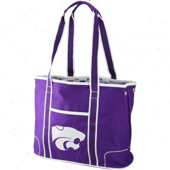 Kansas State Wildcats Ladies Purple Hampton Canvas Tote Sack