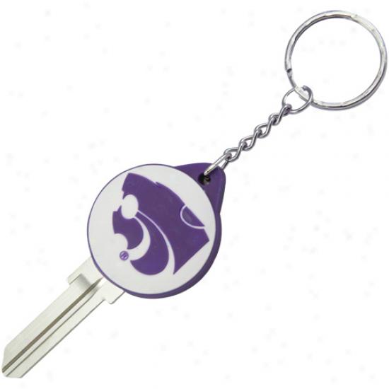 Kansas State Wildcats Logo Key Blank Keychain