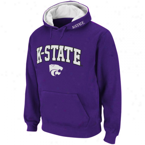 Kansas State Wildcats Purple Classic Twill Ii Pullover Hoodie Sweatshirt
