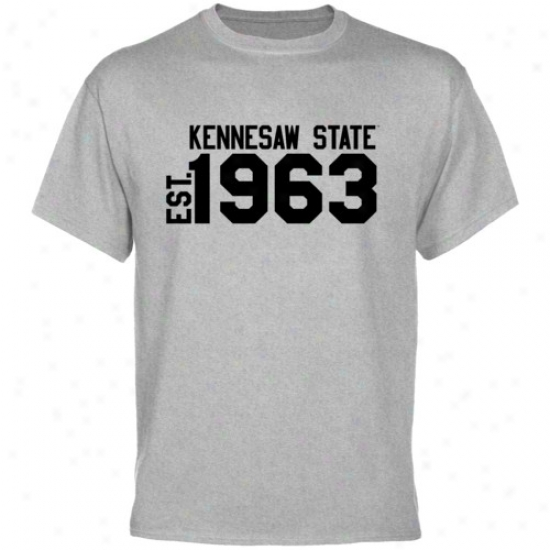 Kennesaw State Owls Ash Est. Date T-shirt