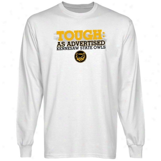 Kennesaw State Owls White As Advertised Long Sleeve T-shirt