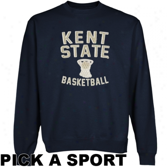 Kent State Golden Flashes Legacy Crew Neck Fleece Sweatshirt - Navy Blue