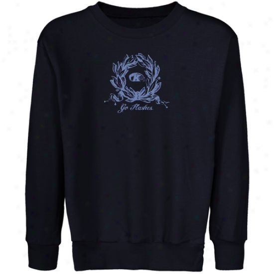 Kent State Excellent Flashes Youth Navy Blue Wreath Crew Neck Fleece Sweatshirt