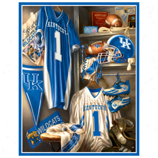 Kentucky Wildcats 48'' X 60'' Locker Room Fleece Blanket