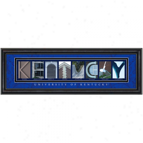 Kentucky Wildcats 8'' X 24'' Framed Letter Art