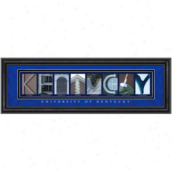 Kentucky Wildcats 8'' X 24'' Framed Letter Art