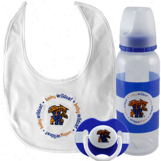 Kentucky Wildcats Infant 3-piece Bottle, Bib & Pacifier Gift Set