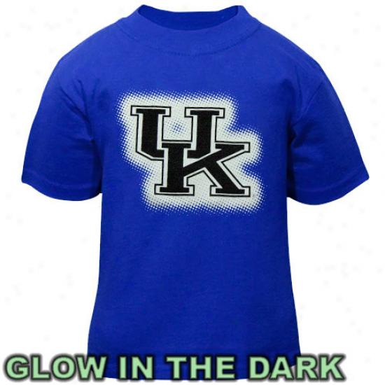 Kentucky Wildcatd Toddler Glowgo T-shirt - Royal Blue