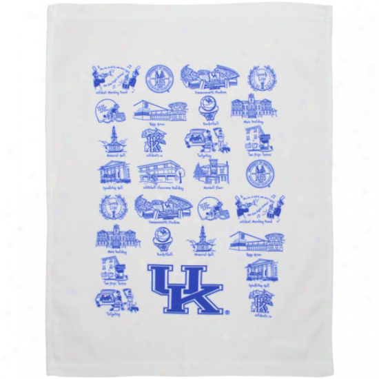 Kentucky Wildcats White Campus Life Tea Towel