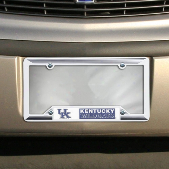 Kentucky Wildcats White Plastic License Pkate Frame