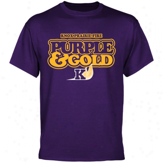 Knox College Prairie Fire Our Colors T-shirt - Purple