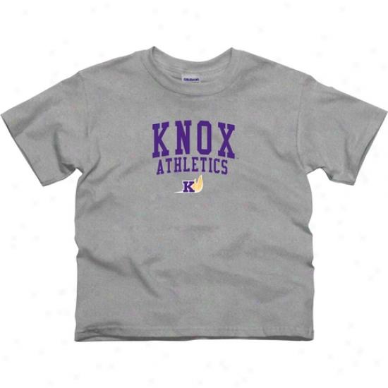 Knox College Prairie Fire Youth Athietics T-shirt - Ash