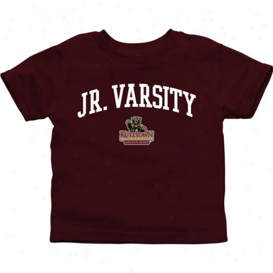 Kutztown Gllden Bears Ihfant Jr. Varsity T-shirt - Maroon