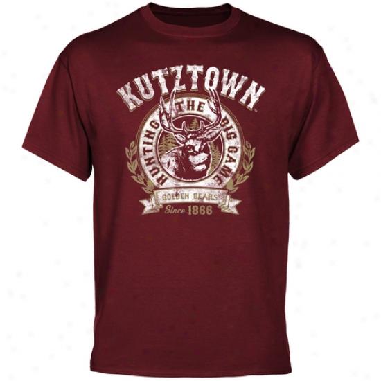 Kutztown Golden Bears The Big Plan T-shirt - Maroon