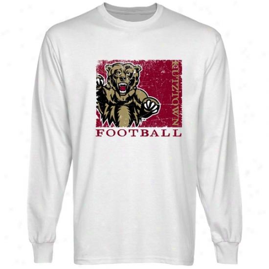 Kutztown Golden Bears White Spoet Stamp Long Sleeve T-shirt