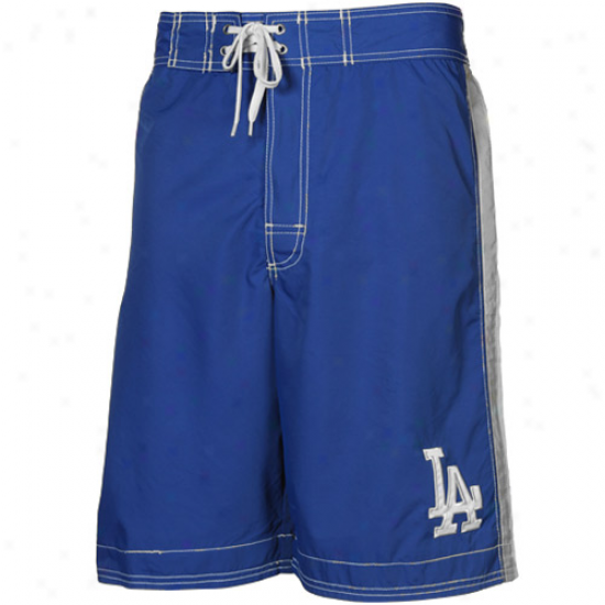 L.a. Dodgers Dodget Blue Color Block Team Logo Boardshorts