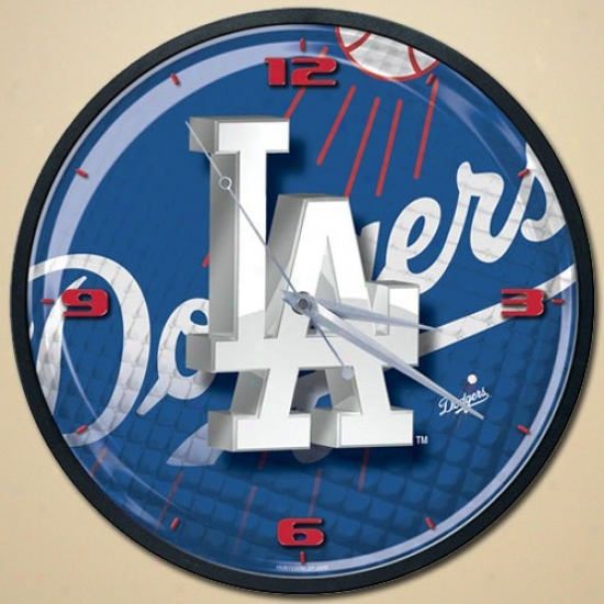 L.a. Dodgers High-definition Wall Clock