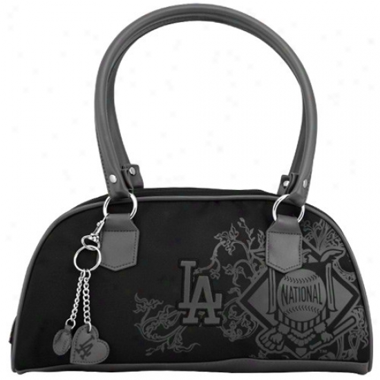 L.a. Dodgers Ladies Black Caprice Hanfbag