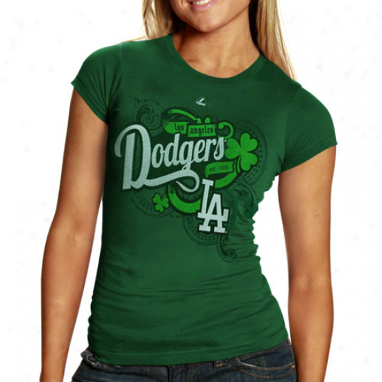 L.a. Dodgers Loving My Luck T-snirt - Green