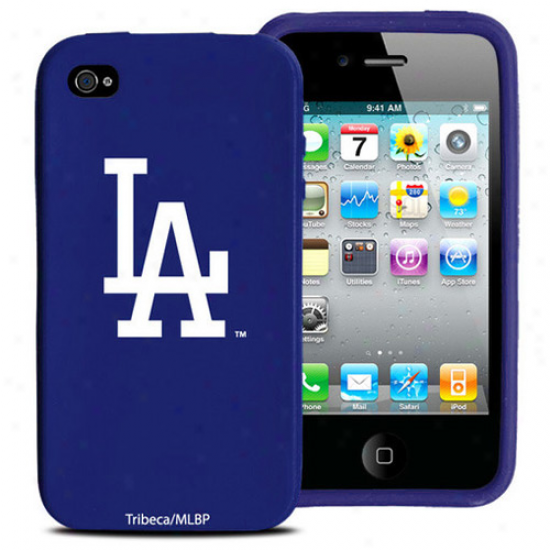 L.a. Dodgers Royal Blue Silicone Iphone 4 Case