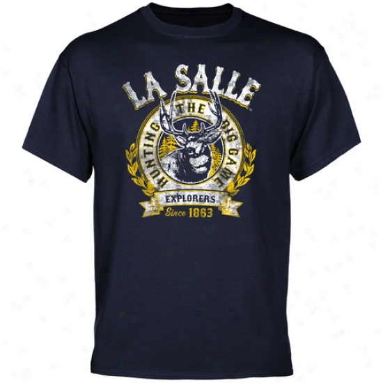 La Salle Explorers The Big Game T-shirt - Ships of war Blue