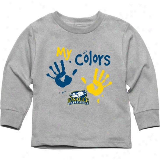 La Salle Explorers Toddler My Colors Long Sleeve T-shirt - Ash