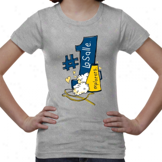 La Salle Explorers Boy #1 Fan T-shirt - Ash