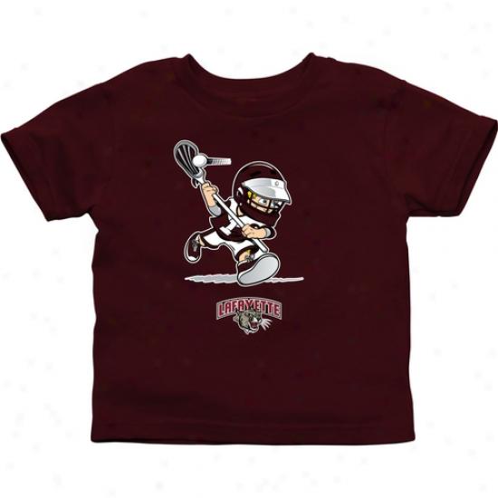 Lafayette College Leopards Infant Boys Lacrosse T-shirt - Maroon