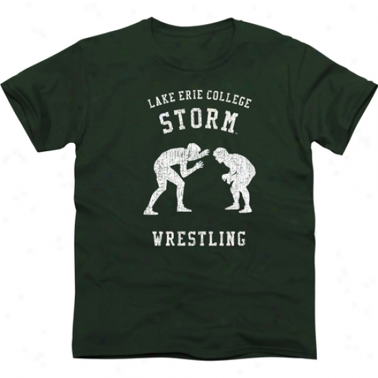 Lake Erie College Storm Club Slim Fit T-shirt - Inexperienced