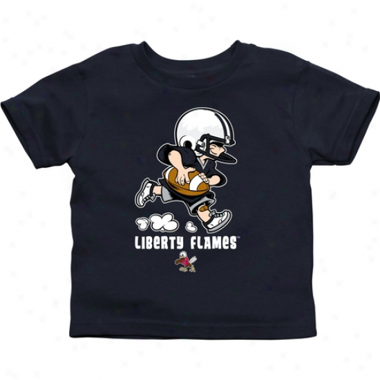 Liberty Flames Toddler Little Squad T-shirt - Navy Blue