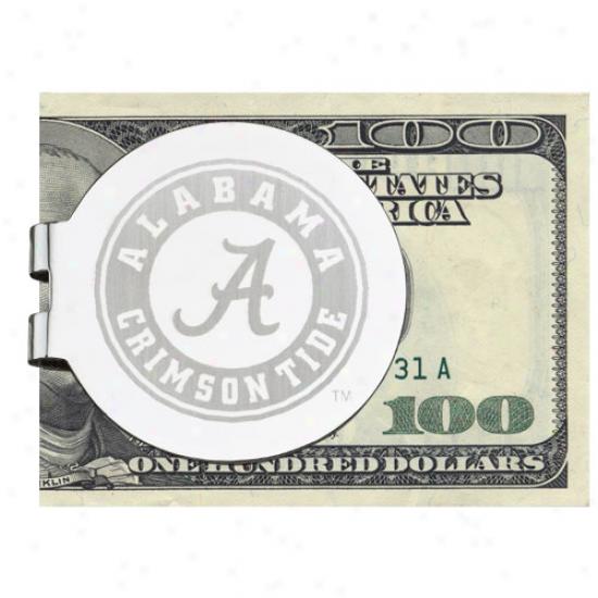 Logo Art Alabama Crimson Tide Silver Laser-etched Money Clip