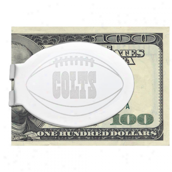 Logo Art Indianapolis Colts Silver Laser-etched Money Clip