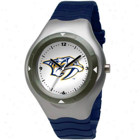 Logo Art Nashville Predators Prospect Watch - Navy Blue/silver