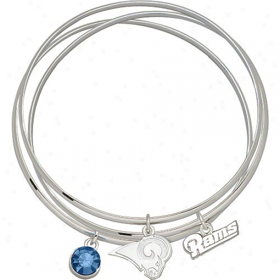 Logo Art St. Louis Rams Spirit Crystal  Bangle Bracelet Set