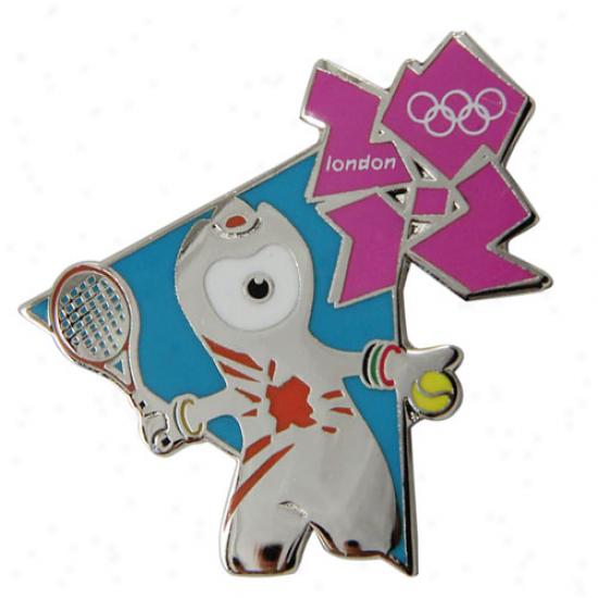 London 2012 Olympics Mascot Tennis Pin
